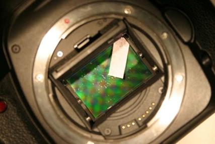 تمیز کردن سطح سنسور دوربین